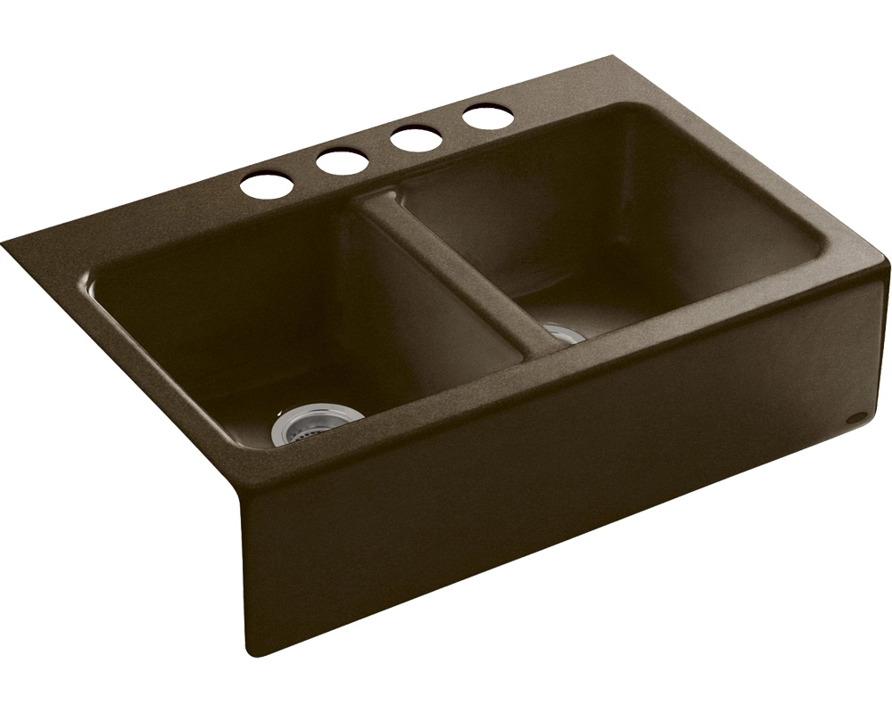 Double Bowl Apron Front Sink : Kohler Hawthorn Apron Front Under Mount Double Bowl Sink - J&B Supply ...