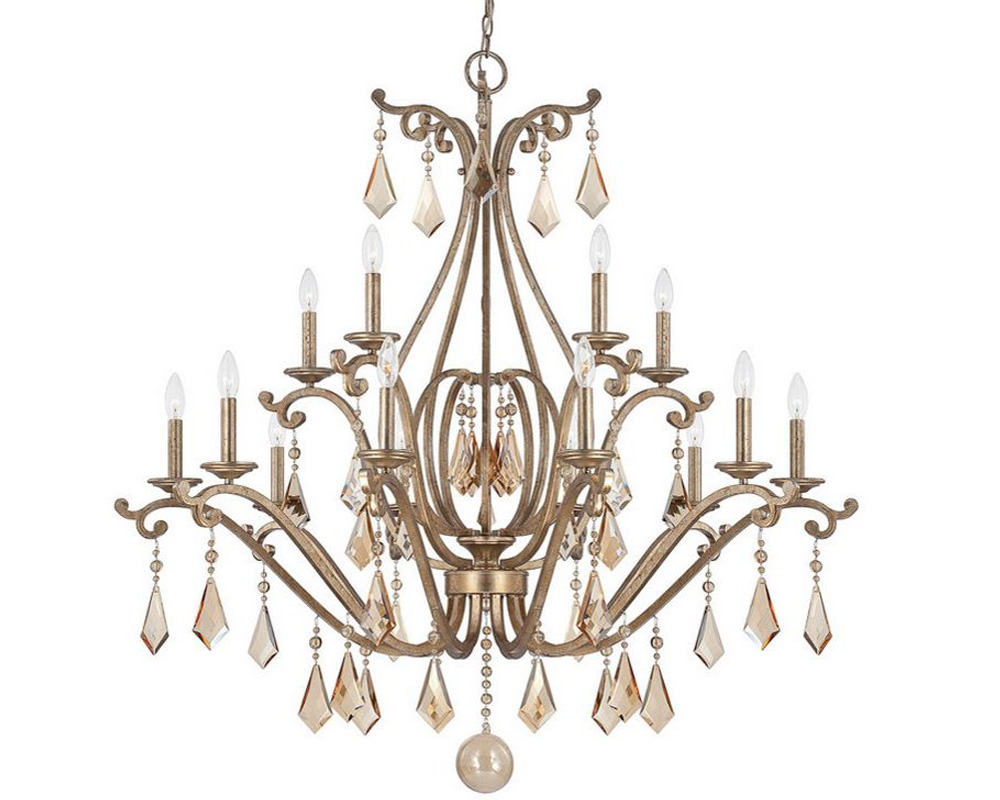 Savoy House Rothchild 15 Light Chandelier in Oxidized Silver